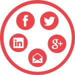 Social Media Connect-red